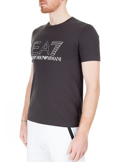 EA7 Emporio Armani  Regular Fit T Shirt Erkek T Shırt S 6Gpt14 Pj20Z 1761 Füme